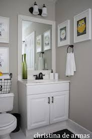 White Bathroom Cabinets by White Framed Mirrors White Bathroom Vanity With Black Mirror
