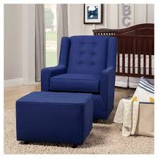 little castle gliding ottoman with buttons brandeis blue target