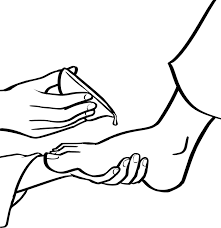 Hand Washing Coloring Sheets - foot coloring page for pages creativemove me