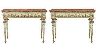 Italian Console Table Pair Of 19th Century Painted Italian Console Tables C 1880