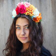 day of the dead headband best dia de los muertos flowers products on wanelo