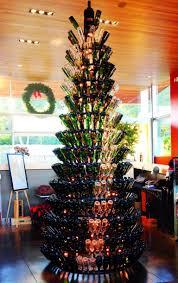 wine bottle christmas tree stand christmas lights decoration