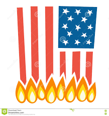 Burning Red Flag Burning American Flag Clipart Clipground