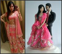 Indian Wedding Cake Topper Customized To Your Features And