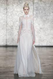 Inbal Dror Fall 2016 Wedding by Inbal Dror Beaded Long Sleeve High Collar Wedding Dress Fall 2018