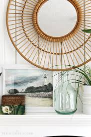 living room ls target i love this rattan mirror from target livening up our living room
