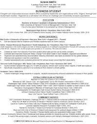 Business Resumes Samples by Sample Cv Business Student