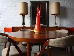 dining table mid century modern dining table prominent solid