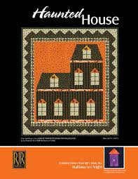 haunted house a free pattern from rjr fabrics is such a fun