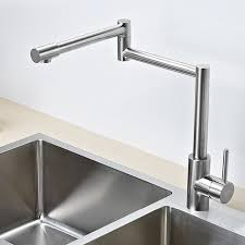 kitchen faucet brushed nickel solid stainless steel pot filler kitchen bar sink faucet brushed