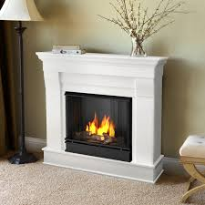 real flame chateau 40 inch gel fireplace with mantel white