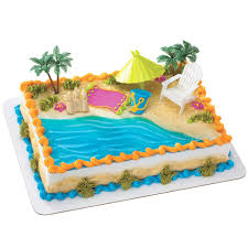 Big W Beach Umbrella Beach Chair U0026 Umbrella Cake Decorations Desserts Pinterest
