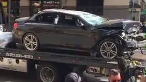 here s video of that car falling seven stories out of a parking car falls seven stories from same parking garage that had a car hanging from it last year