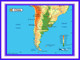 physical map of argentina chile map argentina