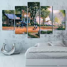 shopping online for home decor george kovach works charming scenery hd canvas print 5 panel wall