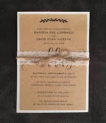 wedding invitations kraft paper wedding invitations cool kraft paper and lace wedding