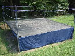 backyard trampoline wrestling home outdoor decoration