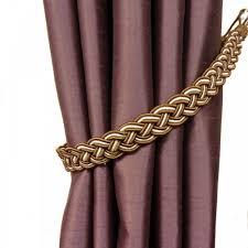 pair of regal brown plaited curtain tiebacks buy pair of regal