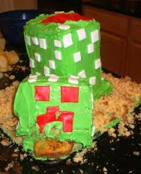 nowamomof3 how to make a minecraft creeper cake