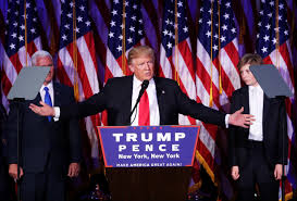 presidential election donald trump ends victory speech in ironic song