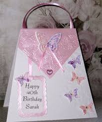 large a5 handmade personalised floral shoe birthday card sister