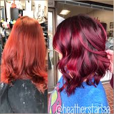 shadow root burgundy hair short hair above the shoulder length