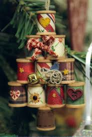 thread spool christmas ornaments christmas crafts to make and