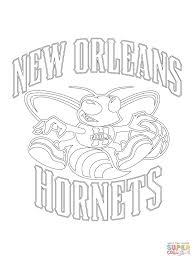 new orleans hornets logo coloring page free printable coloring pages