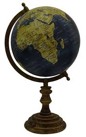 large decorative rotating globe world geography ocean earth home