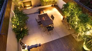 Exellent Garden Lighting Downlighters On A Wooden Clad Wall In - Backyard lighting design