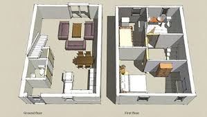Two Bedroom Cabin Floor Plans 2 Bedroom Cottage Agencia Tiny Home