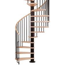 Circular Staircase Design Arke Phoenix 63 In Black Spiral Staircase Kit K07086 The Home Depot