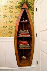 Canoe Bookcase Furniture Ideas How To Reuse Old Boats Refurbished Ideas