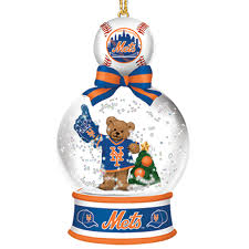 new york mets snow globe ornaments the danbury mint