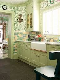 Apple Green Paint Kitchen - hgtv features a modern cottage kitchen with pea green shaker style