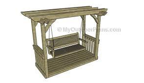 5 Ft Patio Swing With Cedar Pergola Create by 56 Diy Porch Swing Plans Free Blueprints Mymydiy Inspiring