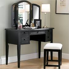 vintage vanity table with mirror and bench black wooden vanity table and stool bedroom vanities design ideas