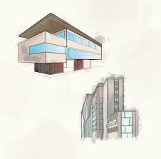sketch of top ten modern how to draw architectural