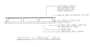 patent us20030093965 hybrid precast concrete and metal deck