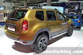 renault dacia duster 2016 dacia duster rear three quarter right at iaa 2015 indian