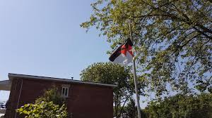 Black Flag With White Cross Half Black Half White With Red Iron Cross Vexillology