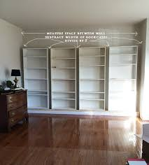 Bookshelves In Ikea by How To Build Diy Built In Bookcases From Ikea Billy Bookshelves