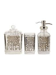 Glass Bathroom Accessories Sets Biba Glass Bath Accessories House Of Fraser