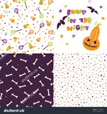 festive seamless pattern halloween bright stock vector