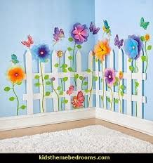 Wall Decor For Kids Room by Picket Fence Wall Decor Decorating Butterfly Garden Themed