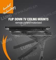 Motorized Ceiling Mount Tv by Bracket For Tvs Height Adjustable Remote Control Motorized Flip