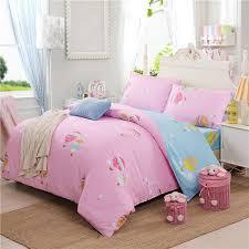 cartoon children bedding set pink u0026 blue reactive printed air