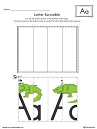 letter a scramble worksheet color myteachingstation com