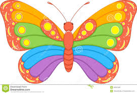 butterfly rainbow stock vector image 45051026