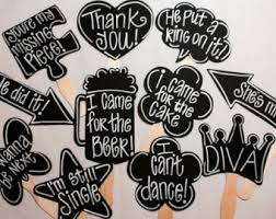 Chalkboard Wedding Sayings Chalkboard Photo Booth Photo Props With Phrases Written